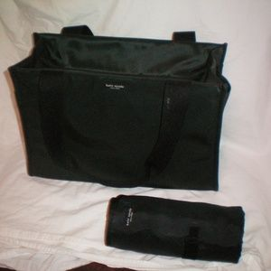 KATE SPADE BLACK TOTE/ DIAPER BAG